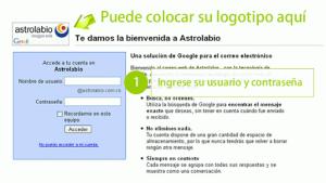 Página de bienvenida del correo con Google Apps