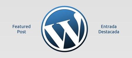 Artículo en la portada Wordpress