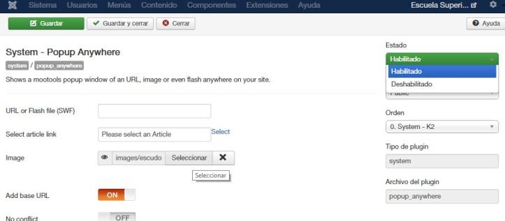 Como instalar popup en Joomla y personalizarlo - 03