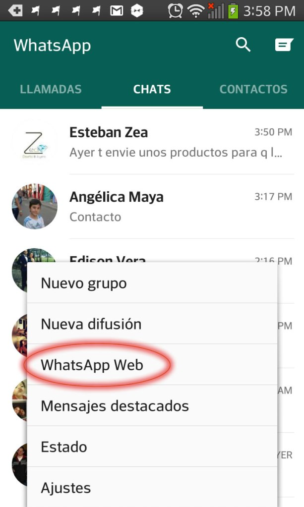 Whatsapp from PC