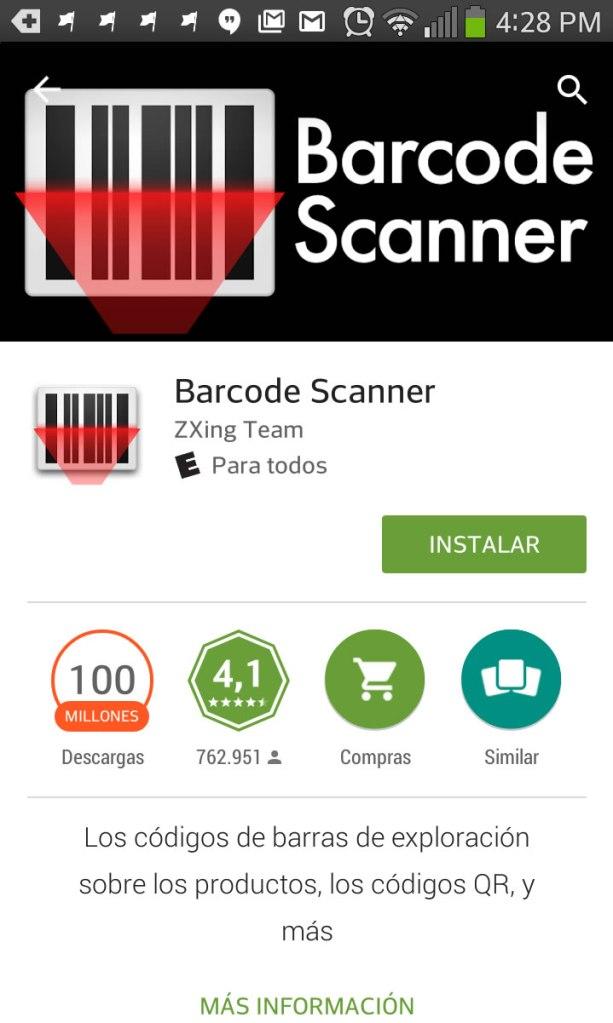 Scanner para códigos QR